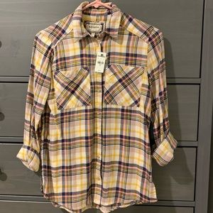 Express Boyfriend Flannel Shirt